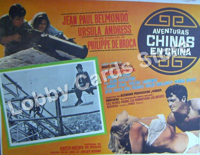 JEAN PAUL BELMONDO. URSULA ANDRESS./ CHINESE ADVENTURES IN CHINA